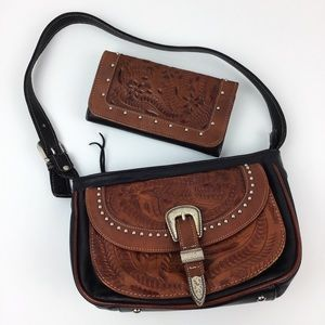 American West Purse & Wallet Southwestern Leather